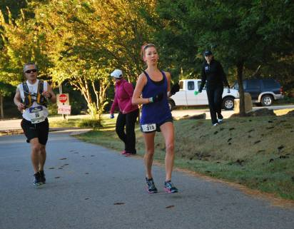 I was 9th woman here, about 7 miles in. Steady, steady.