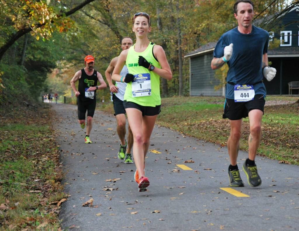 This was somewhere around mile 11...happier, simpler times. Photo credit: Pace Running Magazine